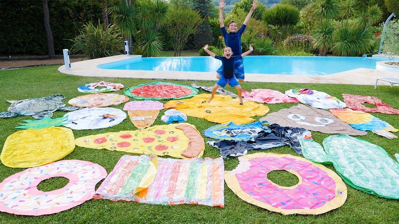 Colis Géant Pour La Piscine : Cascade De Jouets Gonflables Aquatiques ! 💦 avec Animaux Gonflable Pour Piscine
