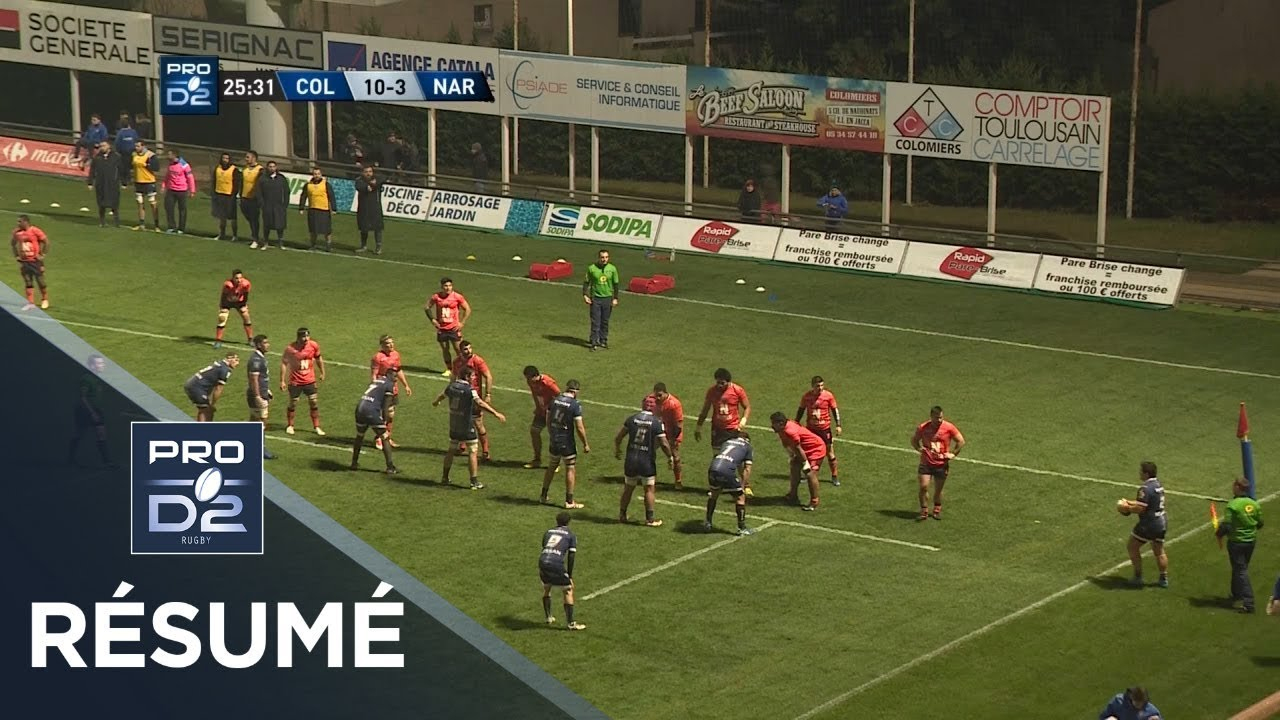 Colomiers V Narbonne, Pro D2 2017-2018 | Ultimate Rugby ... avec Colomiers Piscine