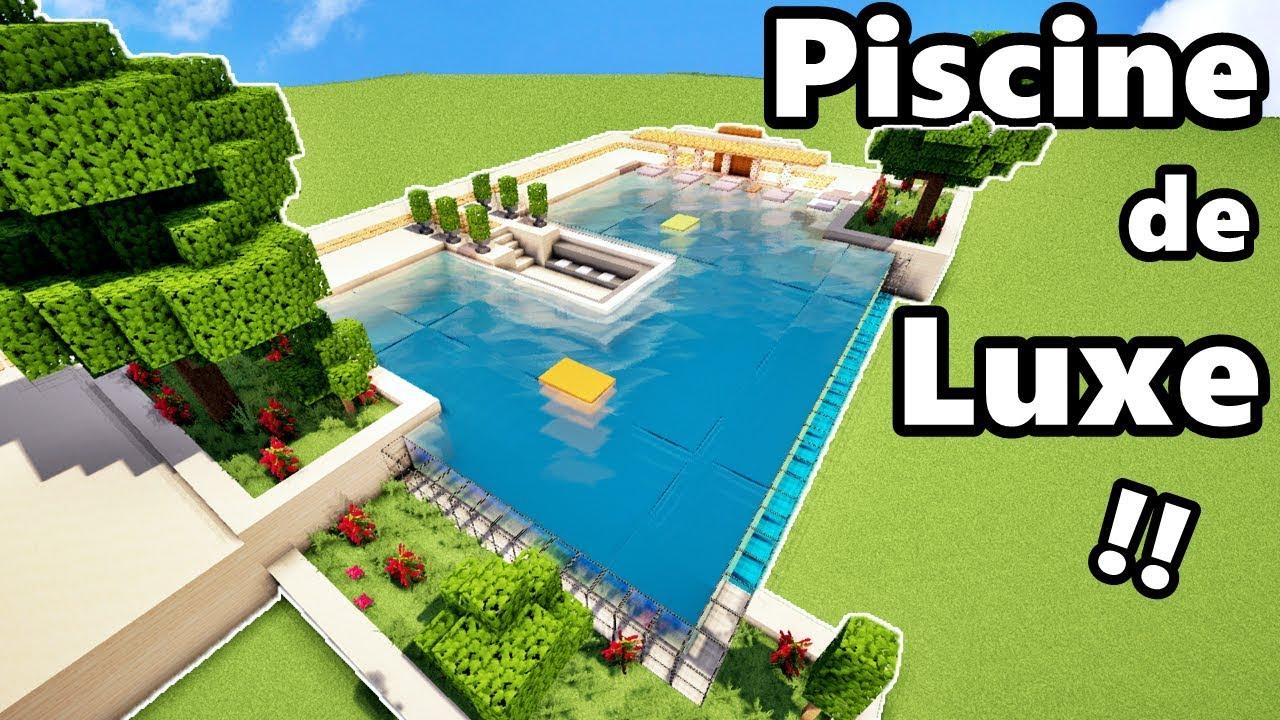 Comment Faire Une Piscine De Luxe Sur Minecraft ? Tutoriel !! dedans Comment Faire Une Piscine