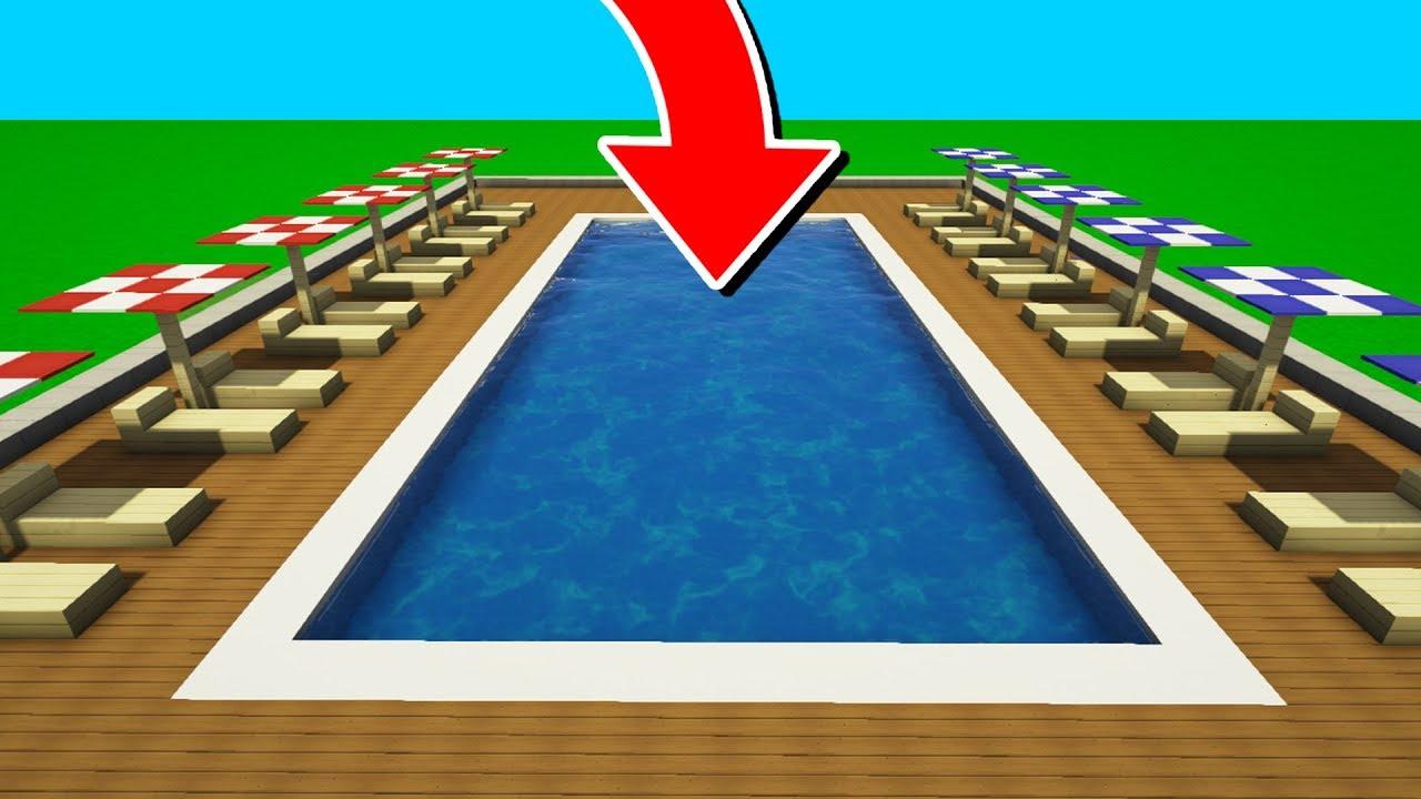 Comment Faire Une Piscine Ultra Réaliste Dans Minecraft ! à Comment Faire Une Piscine