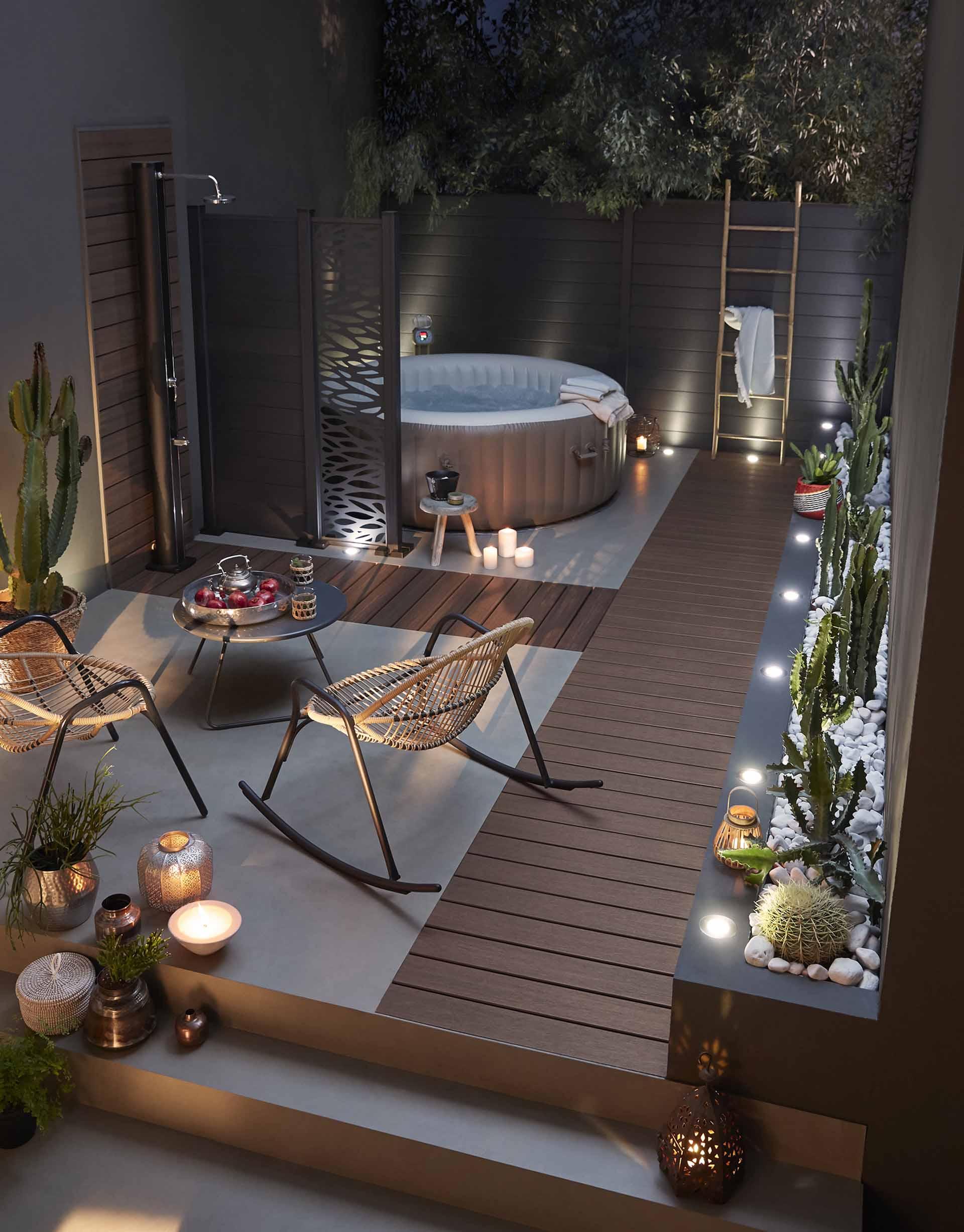 Comment Installer Un Jacuzzi Dans Son Jardin ? pour Piscine Gonflable Castorama
