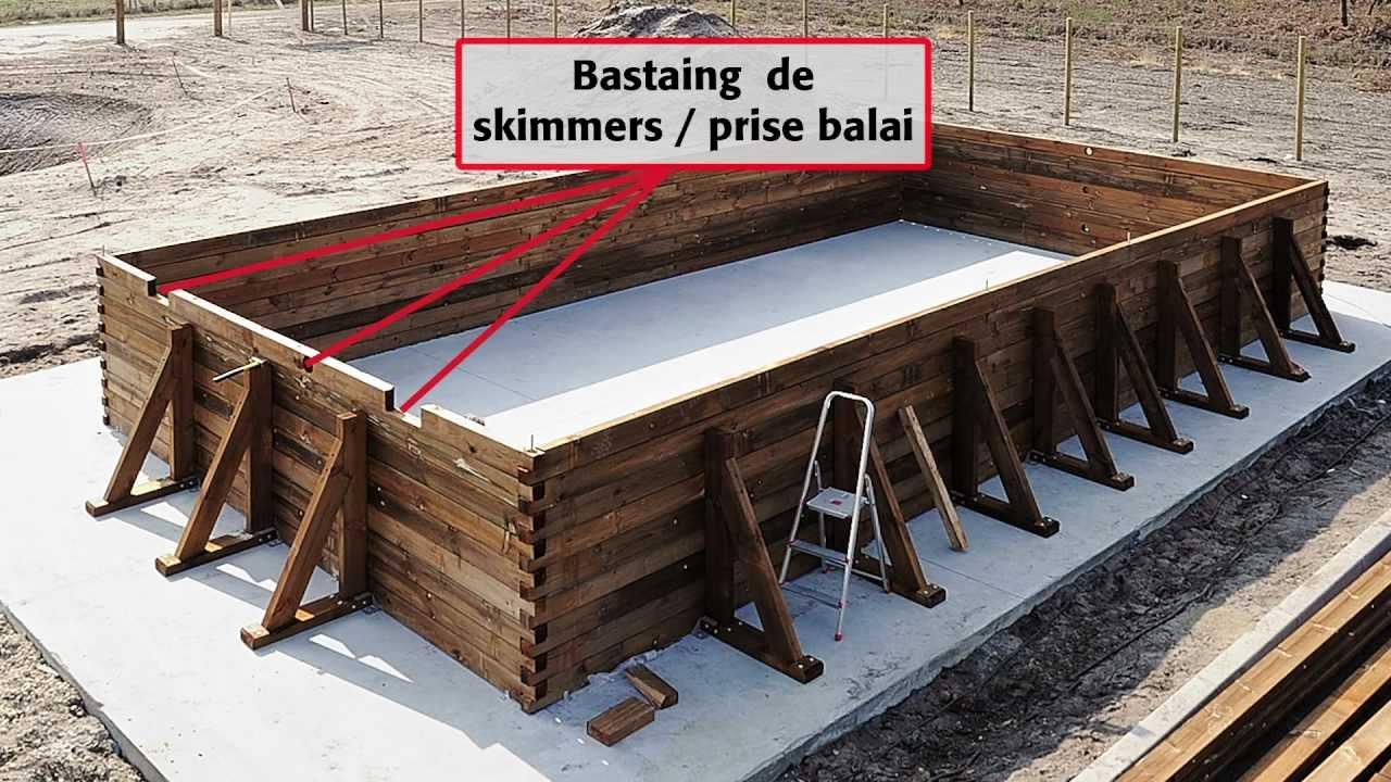 Comment Installer Une Piscine Bois Rectangulaire Hors-Sol 5 X 10 M -  Piveteaubois Durapin à Piscine Enterrable