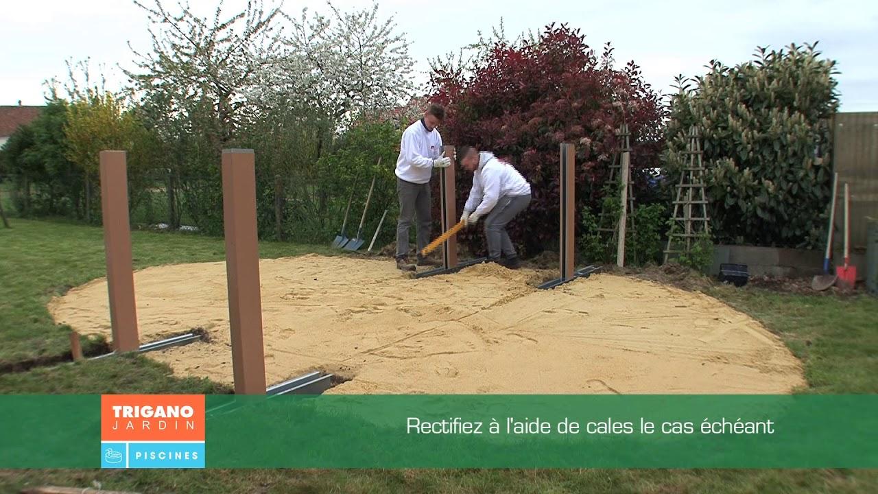 Comment Installer Une Piscine Hors Sol - Installation Des Jambes De Force  (Étape 2/6) tout Sur Quoi Poser Une Piscine Hors Sol