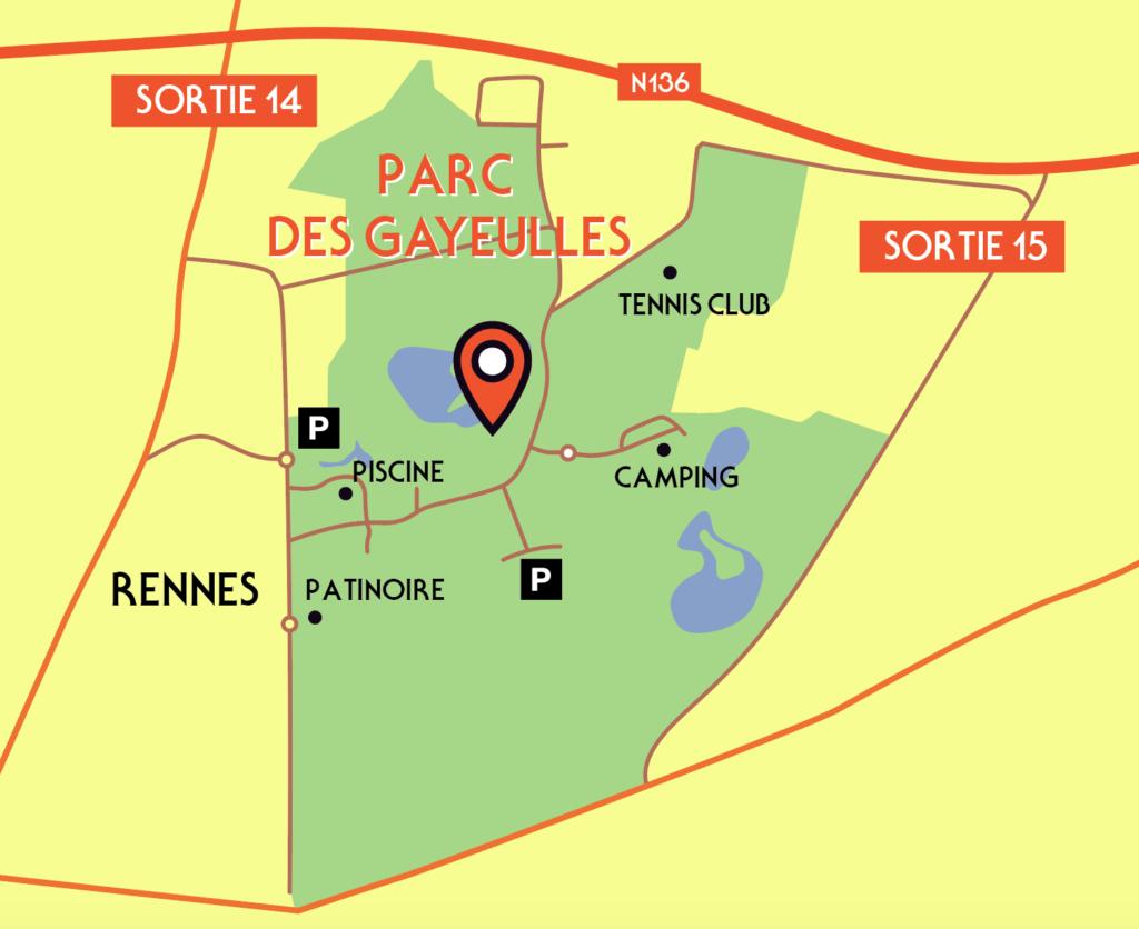 Comment Venir Au Parc Forêt Adrenaline De Rennes à Piscine Rennes Gayeulles