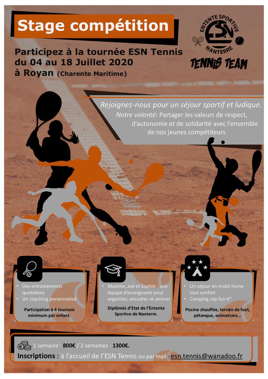 Compétition – Es Nanterre Tennis encequiconcerne Piscine Du Palais Des Sports À Nanterre Nanterre