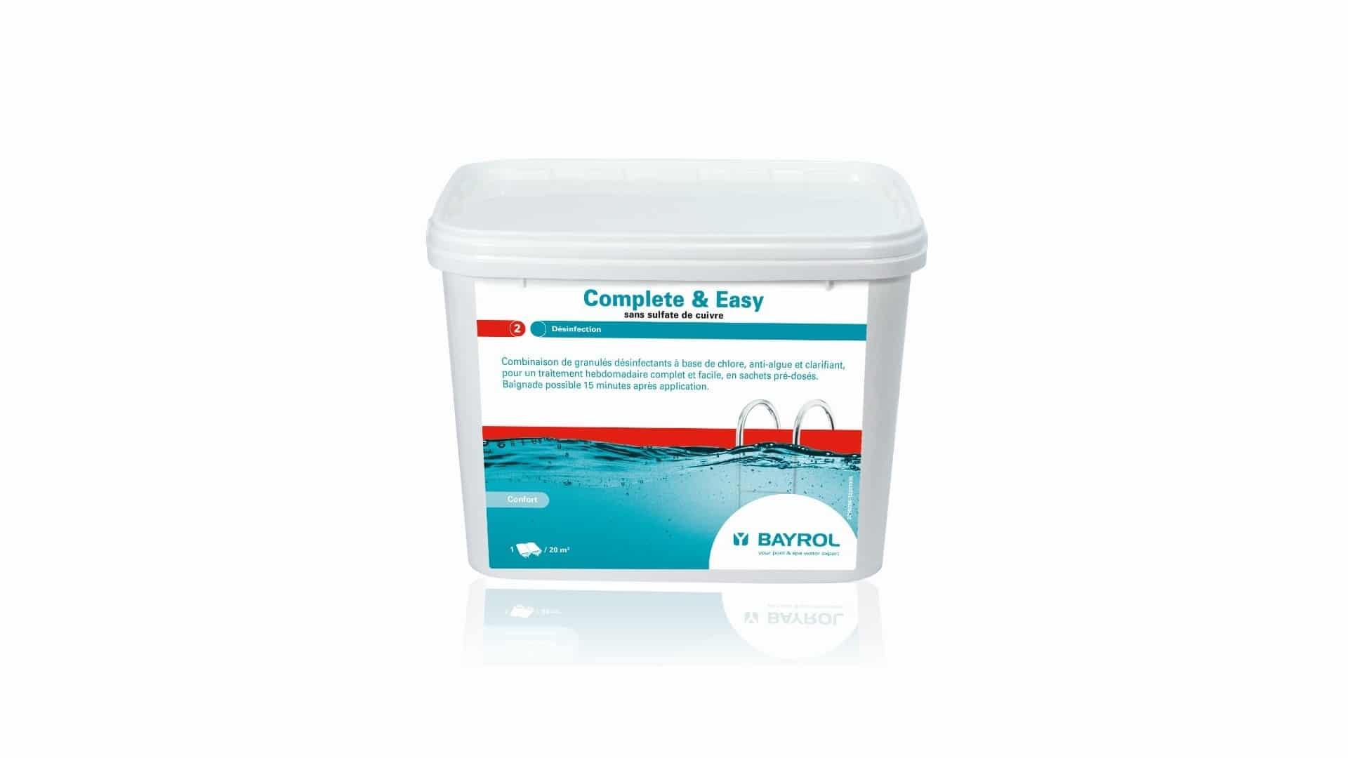 Complete & Easy Traitement De L'eau 4.48Kg Bayrol concernant Sulfate De Cuivre Piscine
