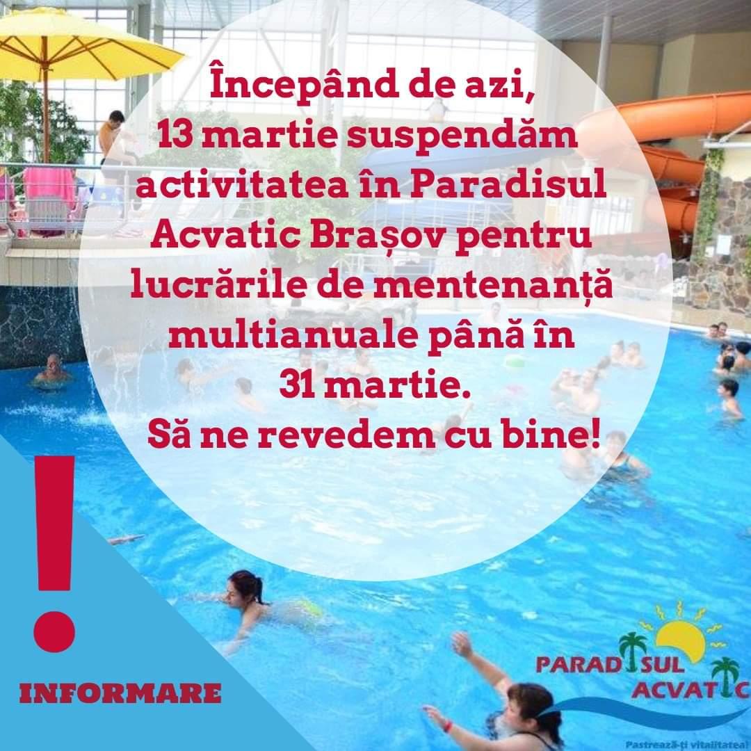 Complex Paradisul Acvatic Brasov, Piscina Brasov, Strand destiné Taxe Piscine 2017