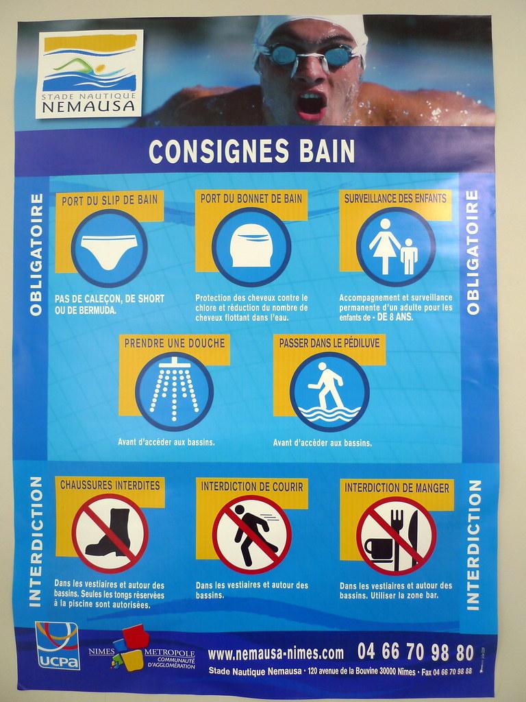 Consignes Bain,stade Nautique Nemausa (Nîmes,fr30) | Flickr pour Piscine Nemausa