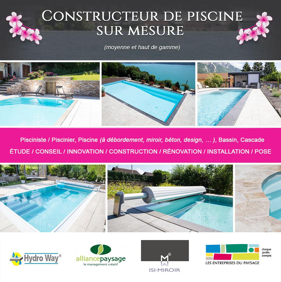 Construction De Piscine Sur Mesure A Saint Julien En ... pour Julien Piscine