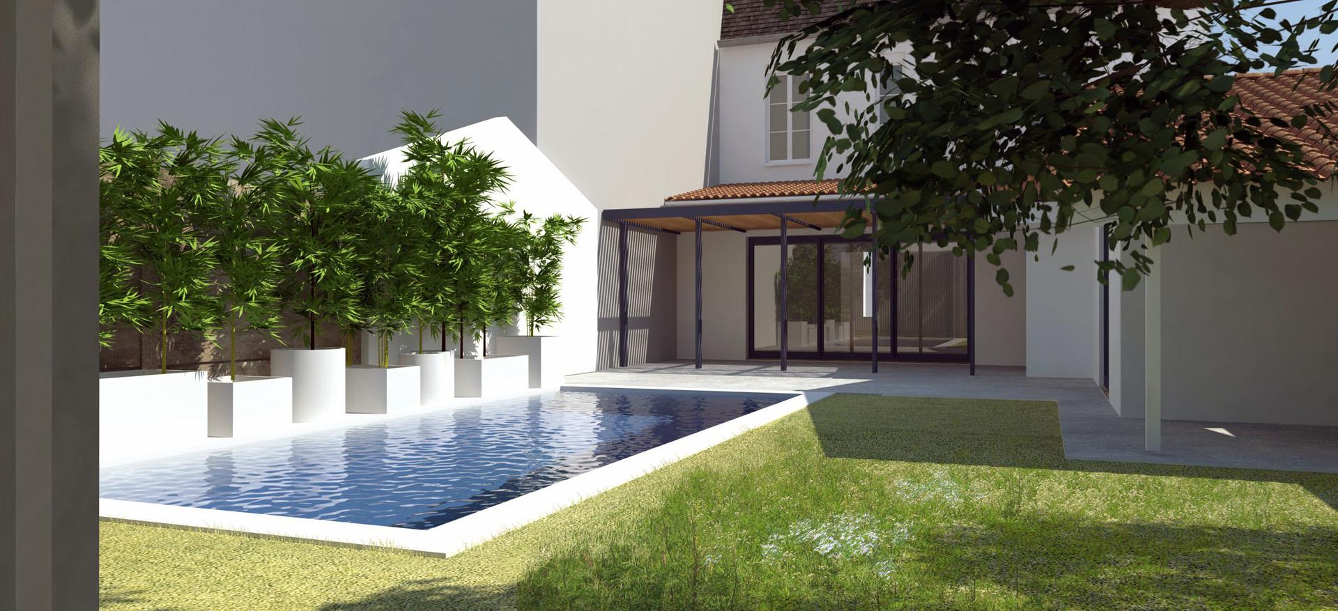Construction D'un Patio Dans Une Maison Le Bouscat 33110 ... pour Piscine Du Bouscat