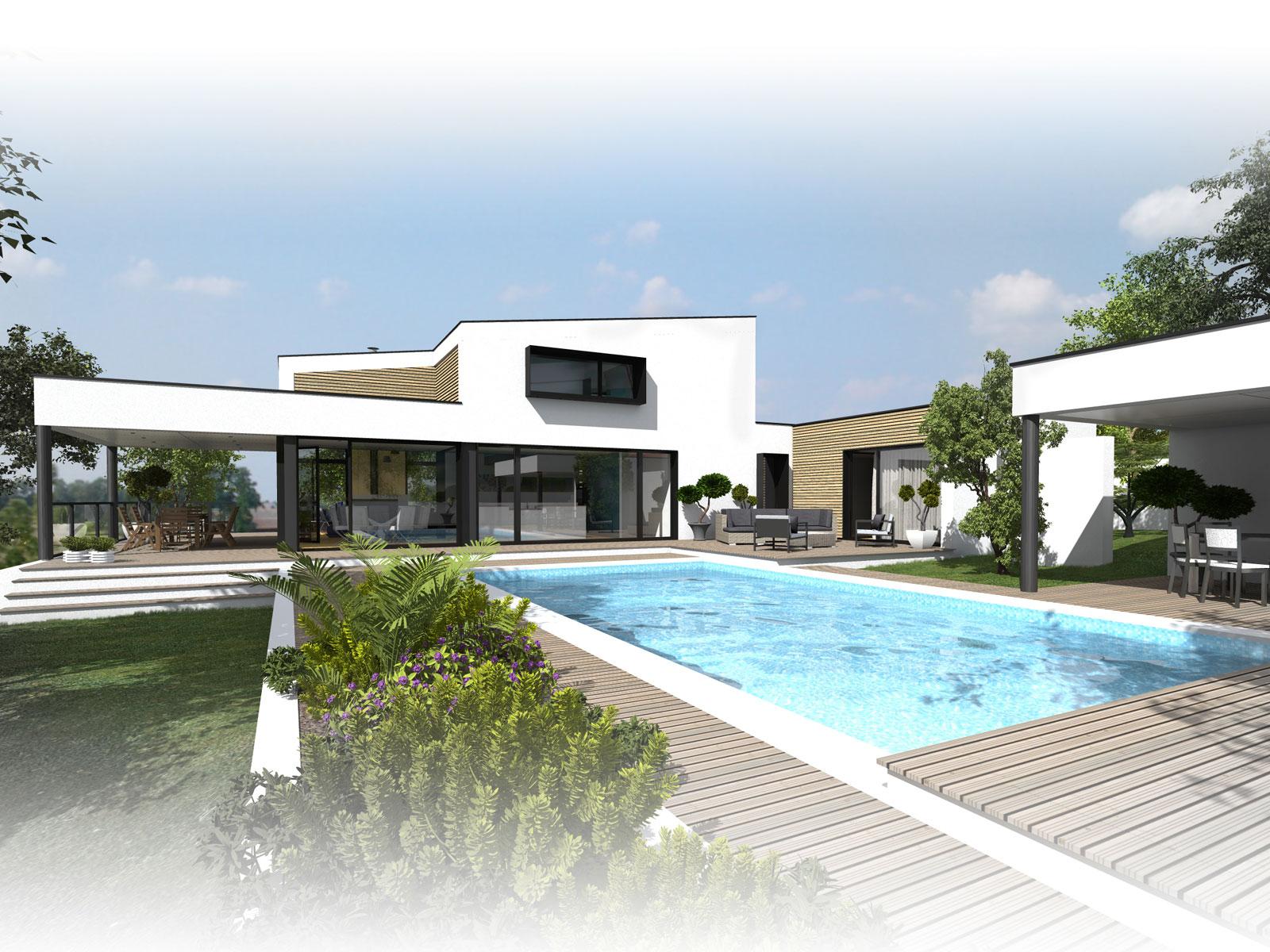 Construction D'une Maison Maçonnée À Vertou Architecte A 14 ... à Piscine Vertou