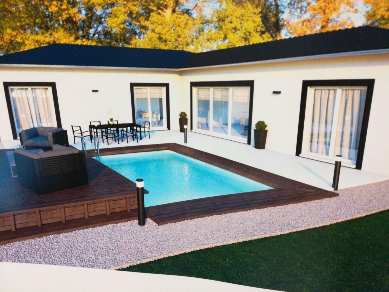 Construction D'une Villa Individuelle De Plain-Pied Avec ... tout Piscine Lunel