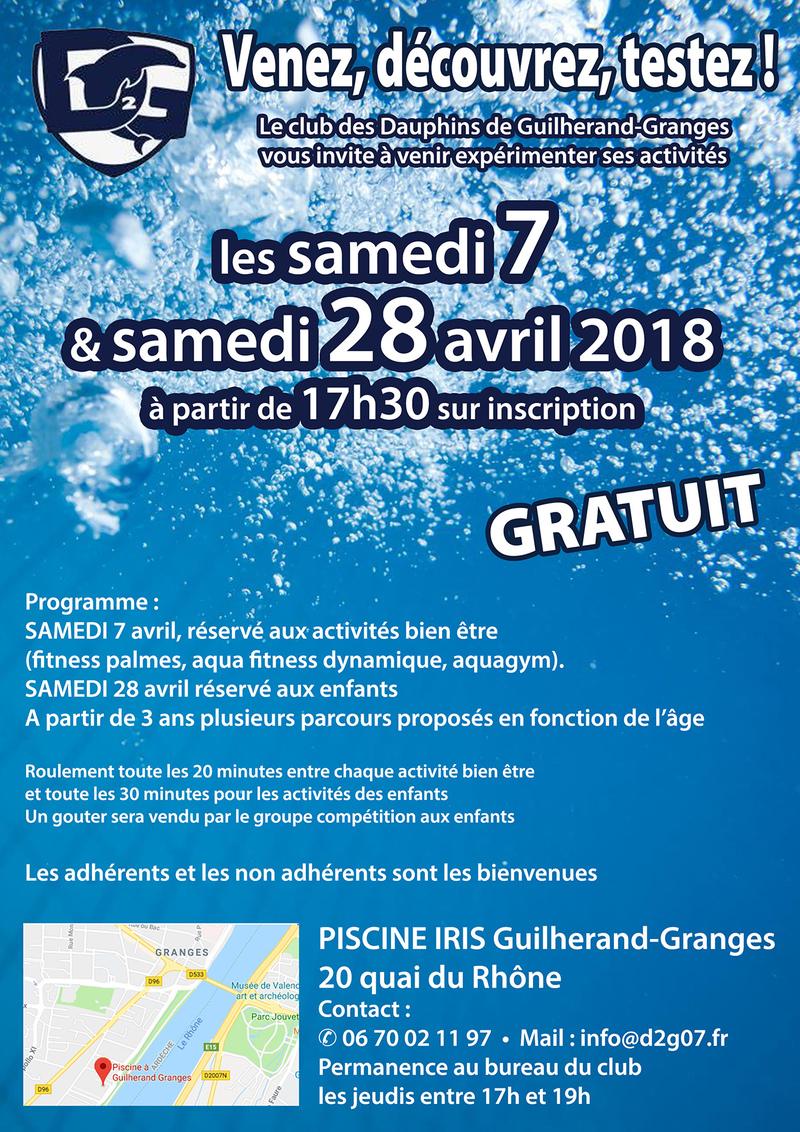 Consulter L'agenda avec Piscine Guilherand Granges