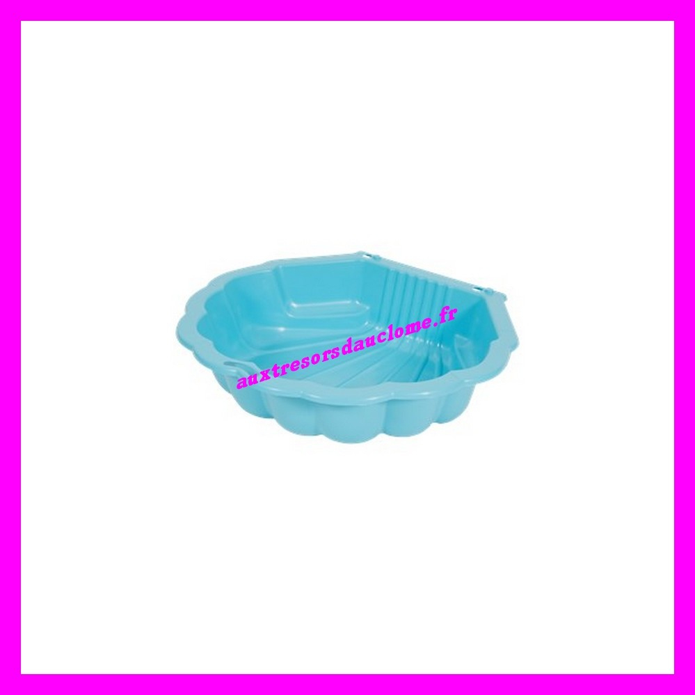 Coquille / Coque / Coquillage / Piscine Rigide En Plastique / Bac À Sable  87 X 76 X 19 Cm Garden Collection encequiconcerne Piscine Coquillage