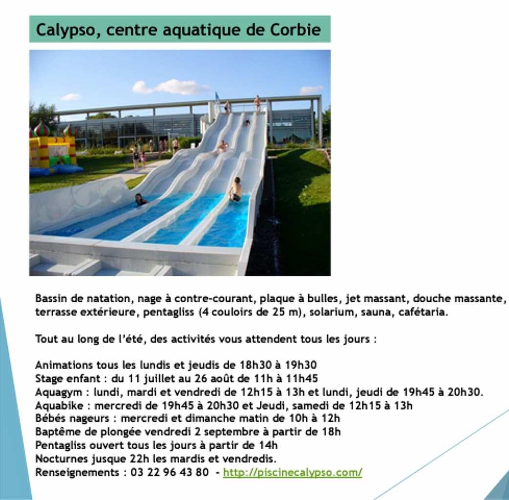 Corbie Piscine Calypso -Réouverture De La Piscine Comme ... dedans Piscine Corbie