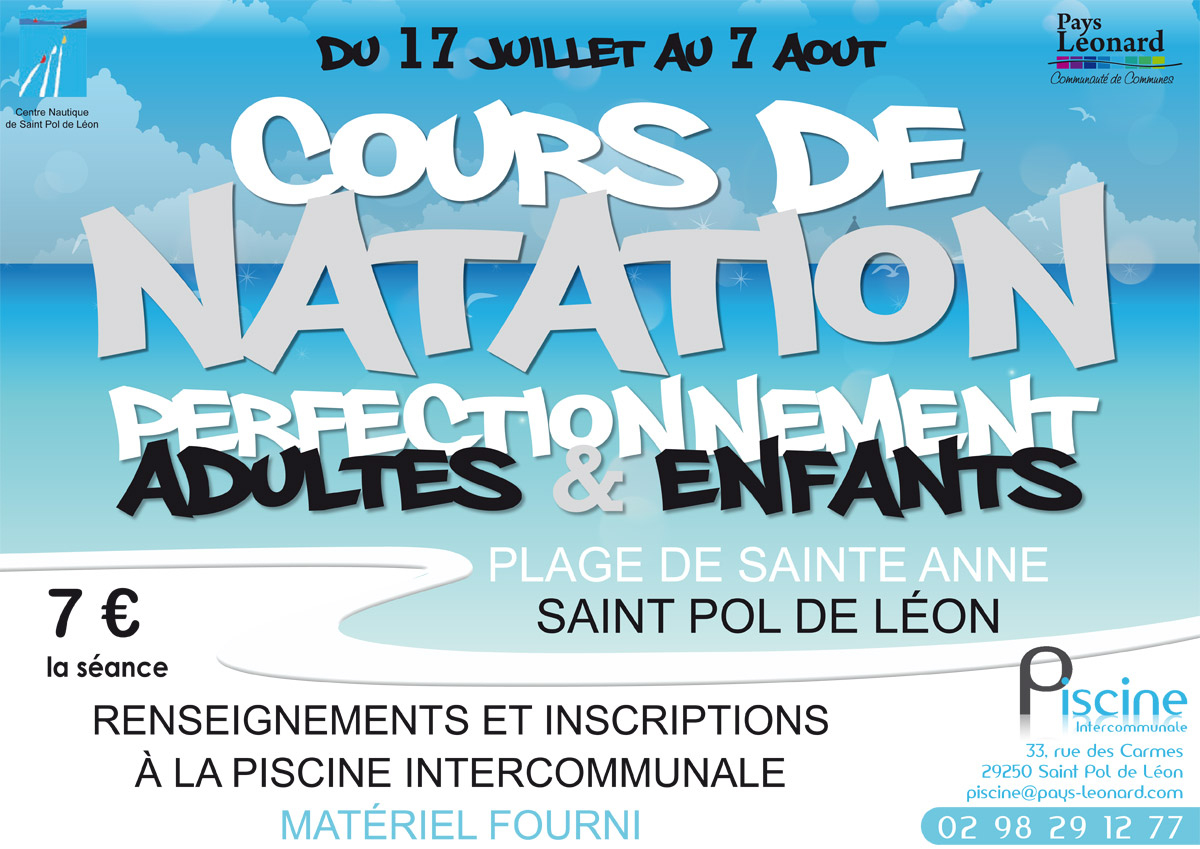 Cours De Natation Et D'aquagym À La Plage De Sainte-Anne ... avec Cours De Piscine