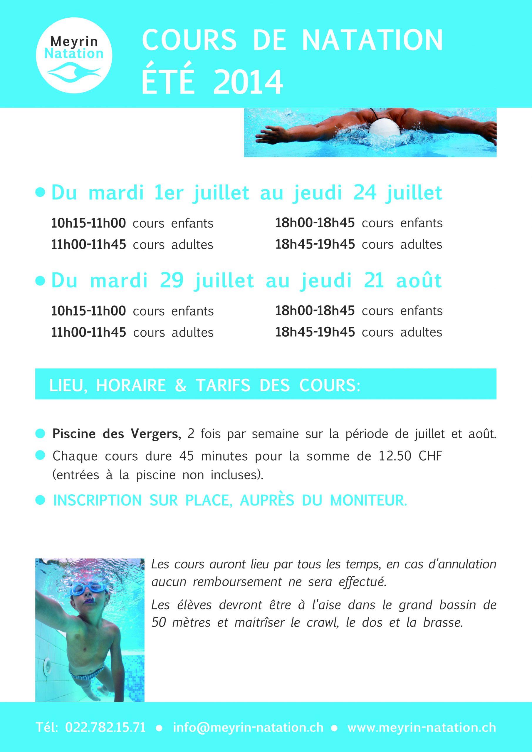 Cours De Natation - Signé Genève pour Cours De Piscine