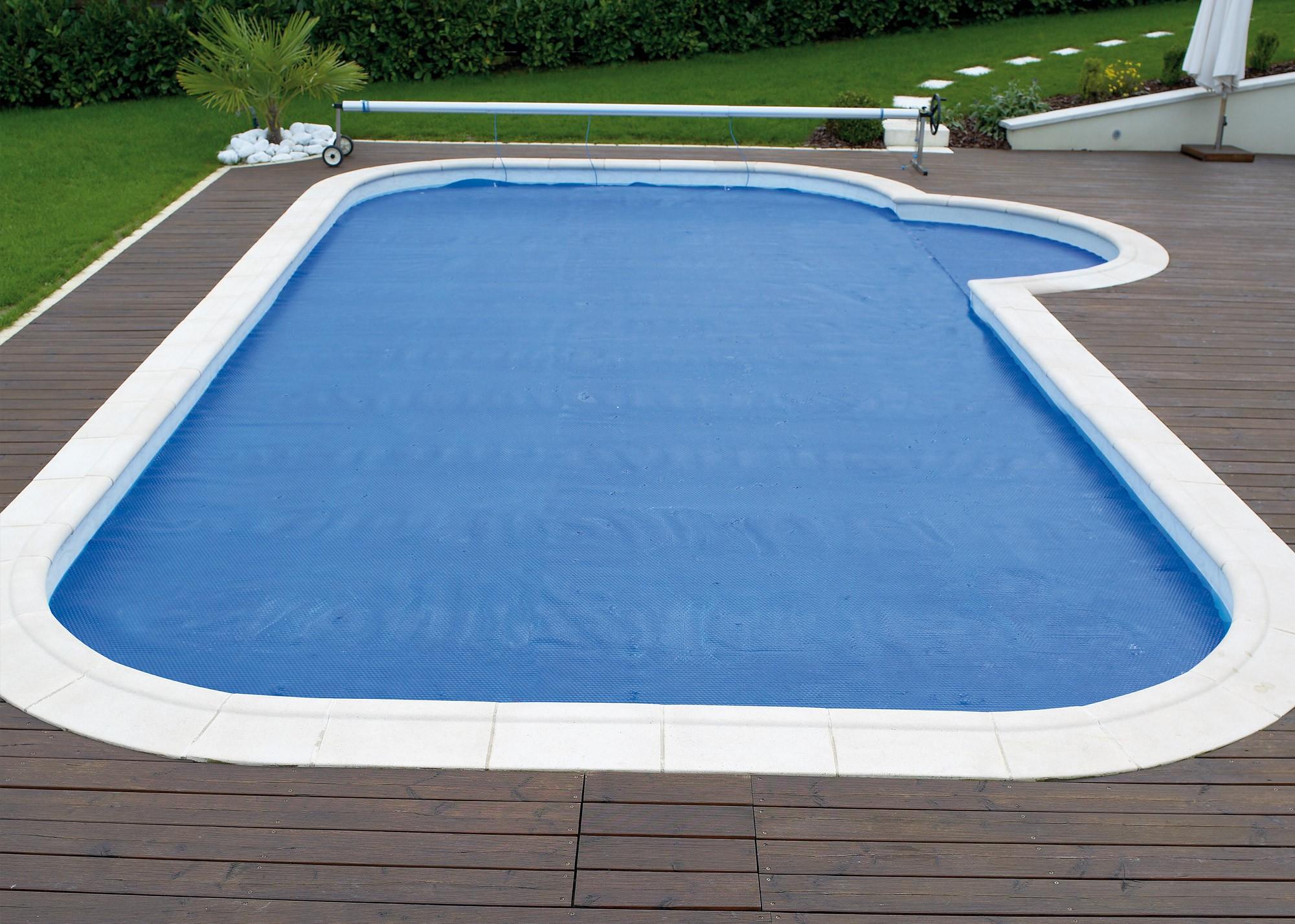 Couverture À Bulles Bleue - Piscines Waterair intérieur Bache À Bulles Piscine