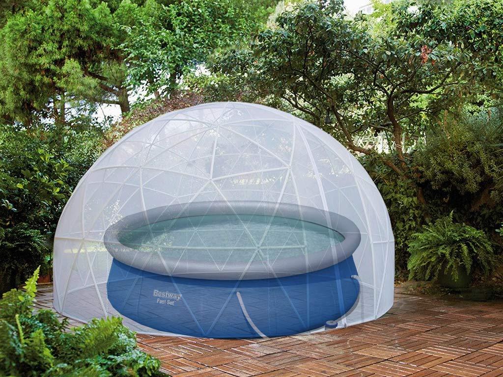 Couverture D'hiver Pour Abri Bulle Piscine Et Spa Garden Igloo à Dome Piscine Hors Sol
