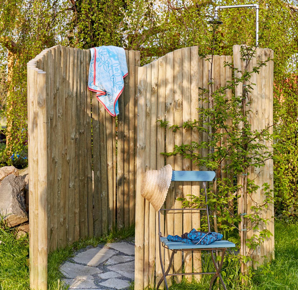 Créer Une Douche D'extérieur - Détente Jardin intérieur Douche Extérieure Piscine