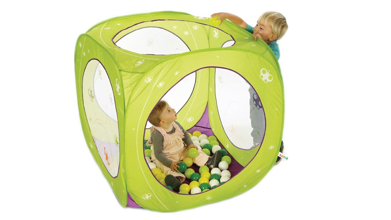 Cub'à Balles Papillons Ludi - Installation Et Pliage encequiconcerne Piscine A Balle Gifi