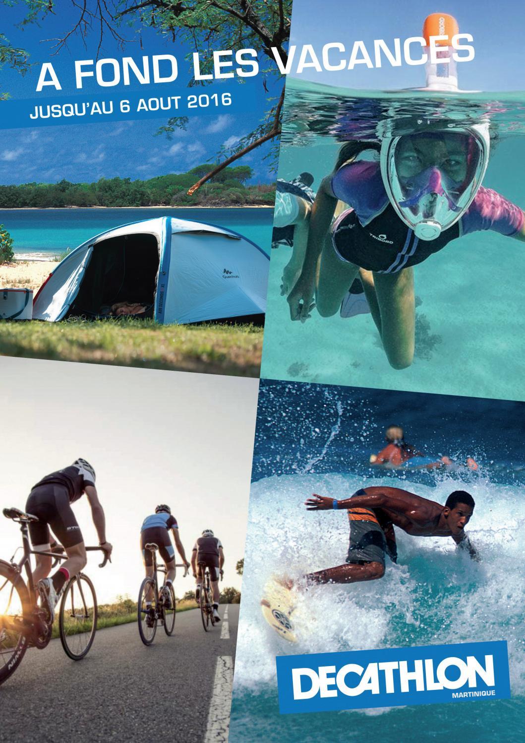 Decathlon Martinique : A Fond Les Vacances ! (Jusqu'au 06 ... destiné Matelas Gonflable Piscine Decathlon