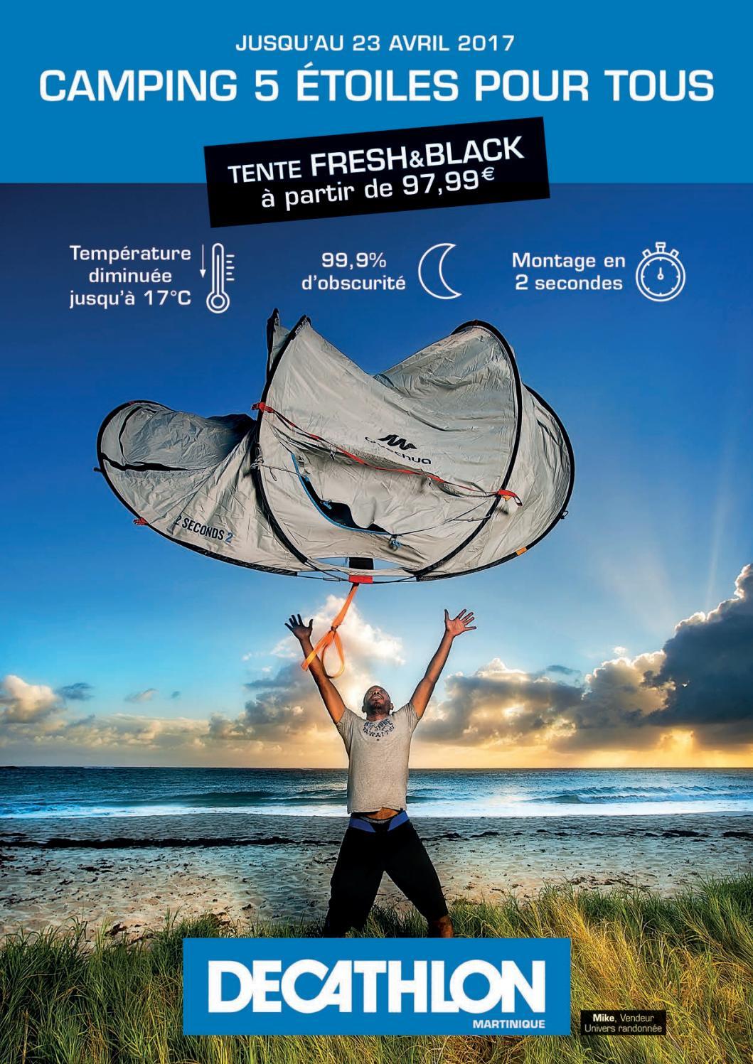 Decathlon Martinique : Camping 5 Etoiles ! (Jusqu'au 23 ... dedans Matelas Gonflable Piscine Decathlon