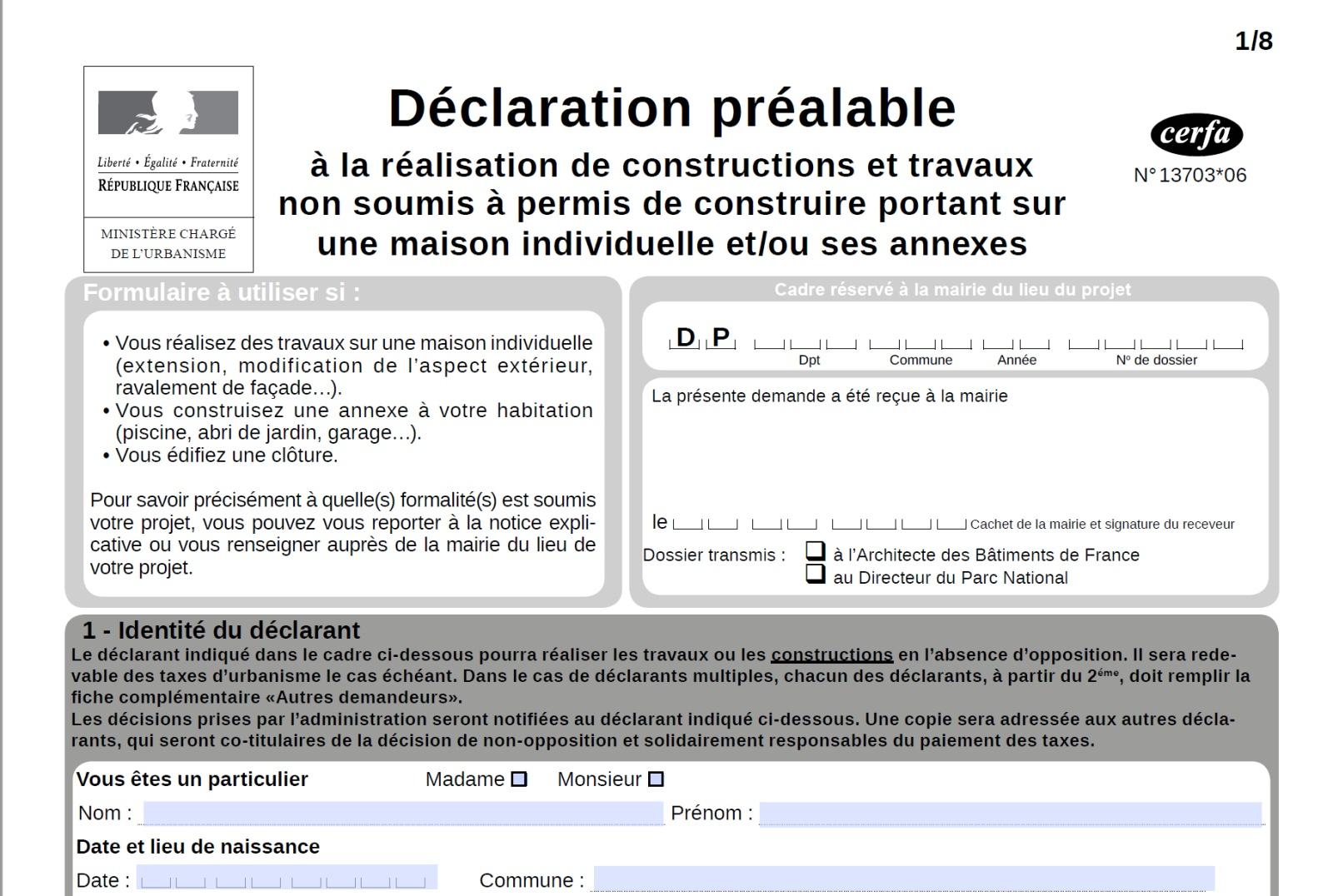 Declaration Préalable De Travaux Pour Piscine, Extension ... destiné Declaration Piscine
