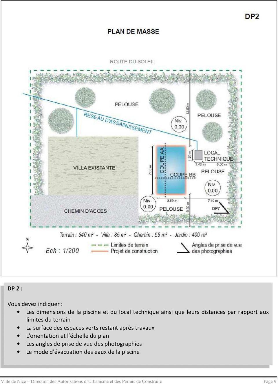 Declaration Prealable Pour La Construction D Une Piscine ... encequiconcerne Plan De Coupe Piscine
