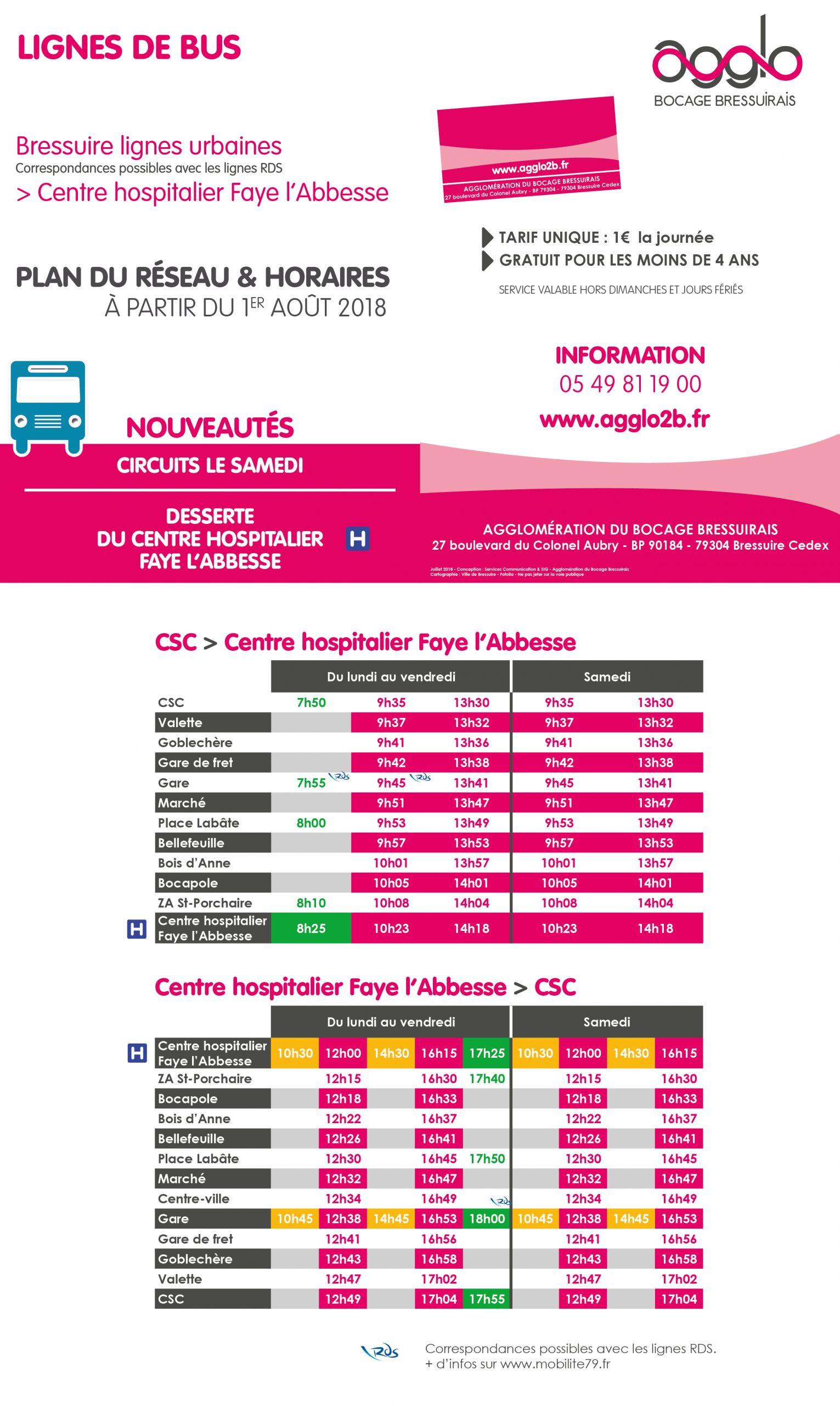 Depuis Le 1Er Août, Transport Urbain Vers Le Centre ... pour Horaire Piscine Bressuire