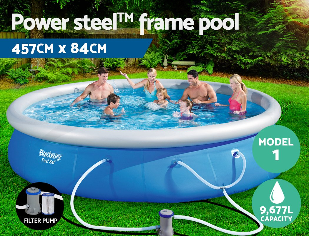 Details About Bestway Swimming Pool Pools Above Ground Fast Set Splish  Splash Inflatable pour Filtre Piscine Bestway Type 2