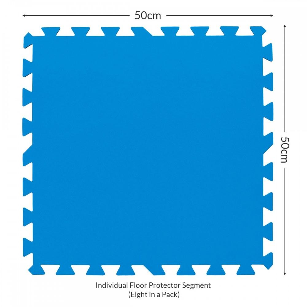Détails Sur Bestway - Flowclear 50.8Cm X Piscine Et Spa Protection Sol, 8  Feuilles 50X50Cm encequiconcerne Tapis De Sol Pour Piscine Hors Sol