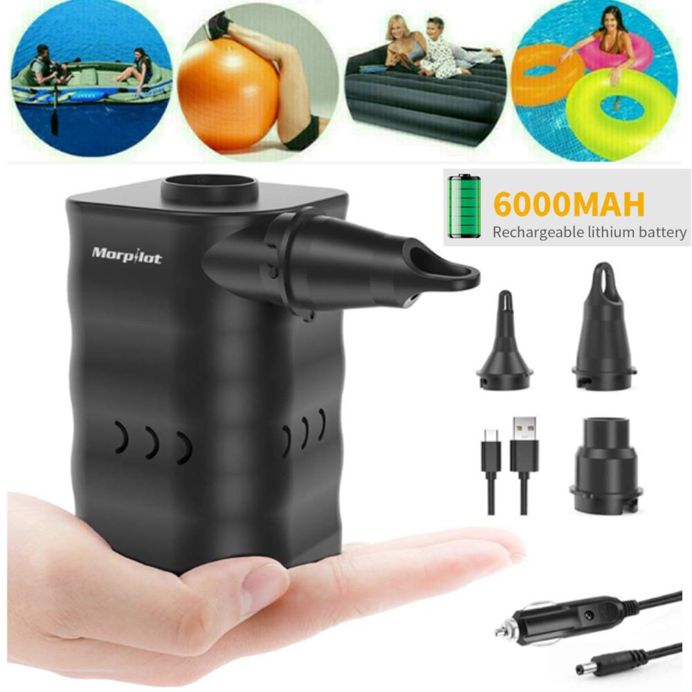 Détails Sur Gonfleur Electrique Portable Pompe D'air Pour Matelas/piscine  Gonflable Bateau serapportantà Gonfleur Piscine