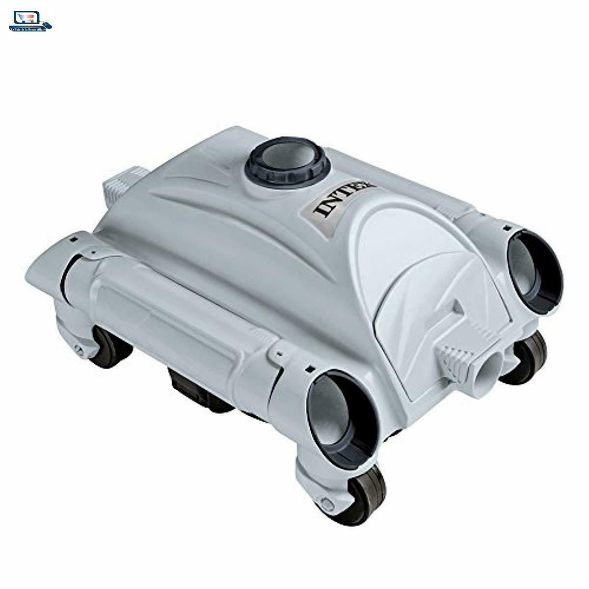 Détails Sur Intex 28001 Robot De Piscine Nettoyeur De Fond Pour Piscines  Hors-Sol Pour Filtr avec Aspirateur De Fond Pour Piscine Hors Sol