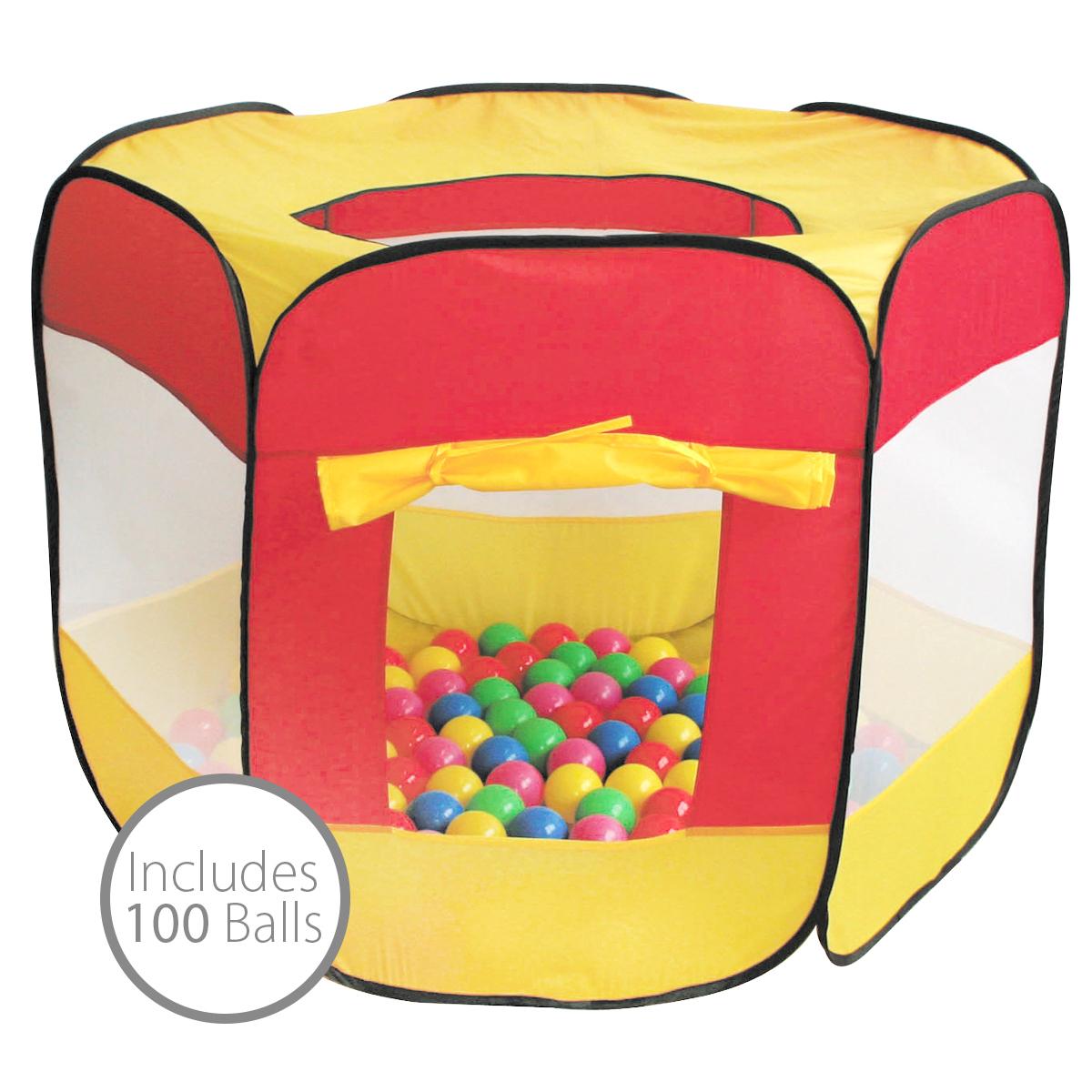 Détails Sur Piscine À Boules Pour Enfants - Intérieur/extérieur - 100  Boules - Multicolore à Piscine A Balle Gifi