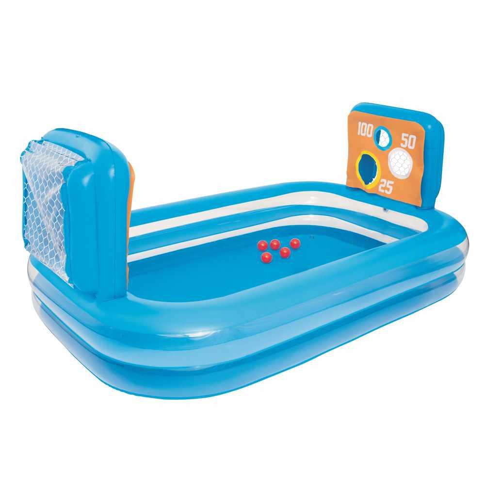 Détails Sur Piscine Gonflable Pour Enfants Bestway 54170 Avec Buts, Cibles  Et Ballons dedans Piscine Intex Enfant