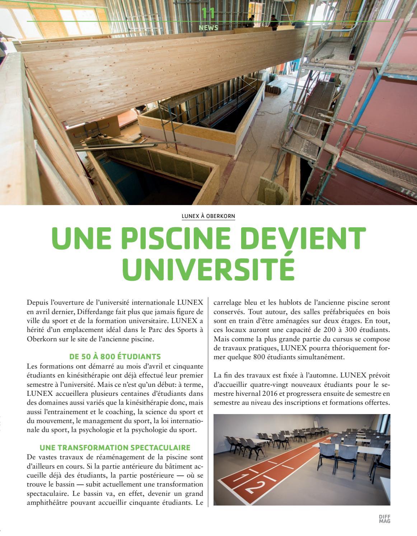 Diffmag °09 16 By Ville De Differdange - Issuu pour Piscine Oberkorn