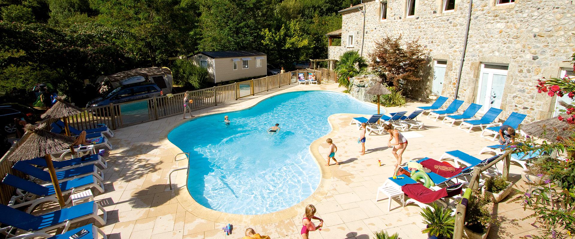 Domaine De La Plage - Neyrac Les Bains - Ardèche - Camping ... à Camping En Ardèche Avec Piscine