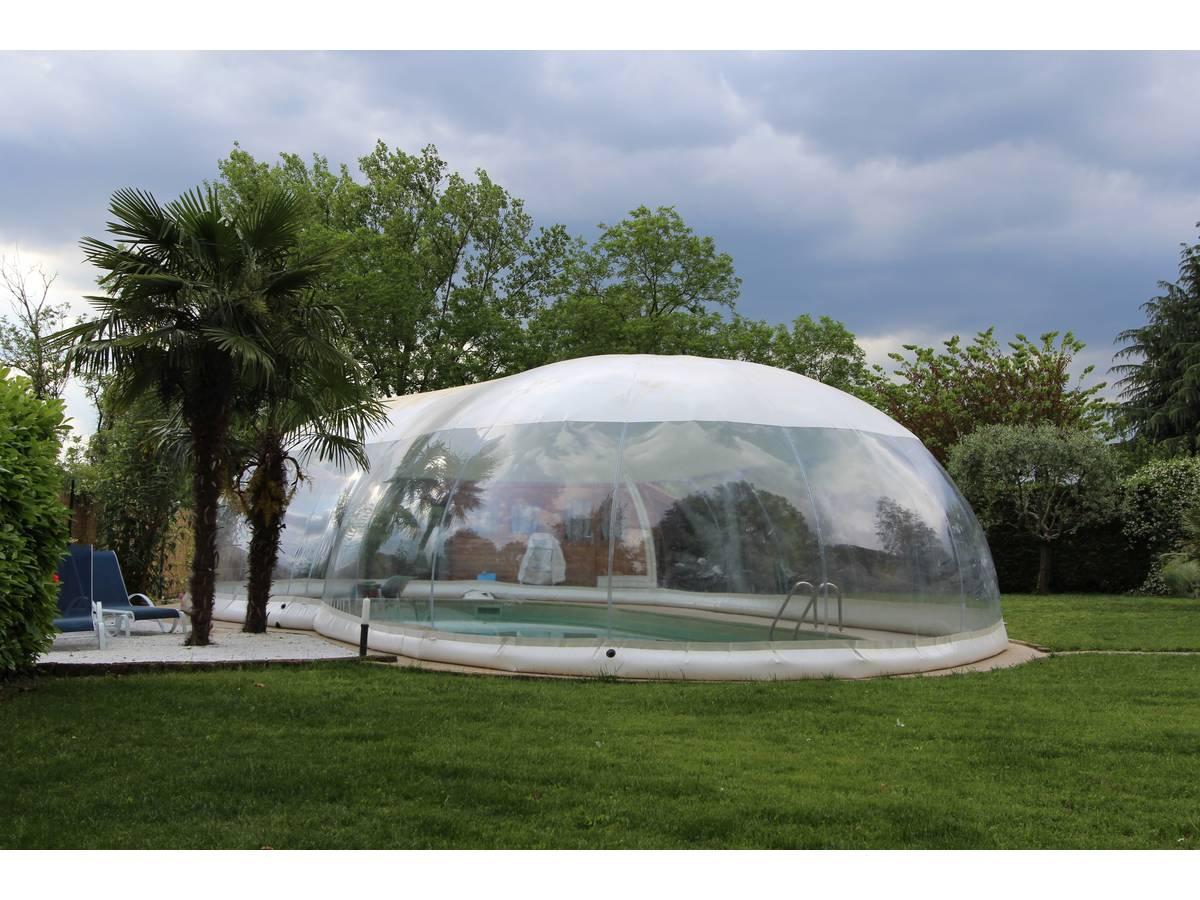 """Dôme Gonflable Pour Piscine """"cristalball"""" - 6 X 12 M 97704 concernant Dome Piscine Hors Sol"""