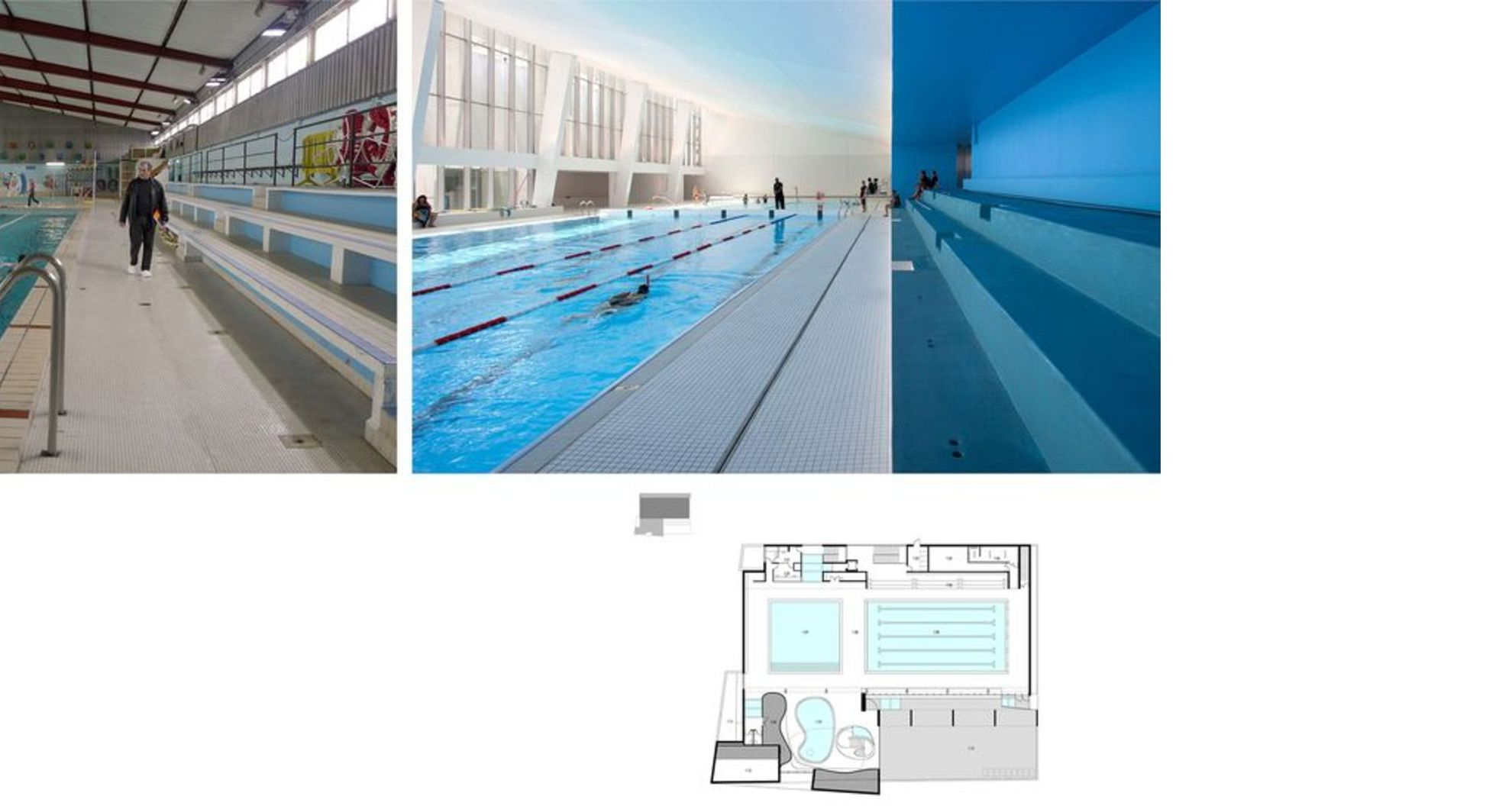 Dominique Coulon Renovates The Municipal Swimming Pool In ... dedans Piscine Bagneux