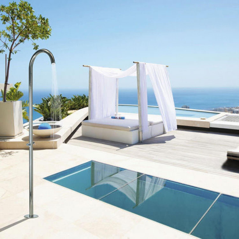 Douche Extérieure Pool Floor Bossini Valente Design à Douche Extérieure Piscine