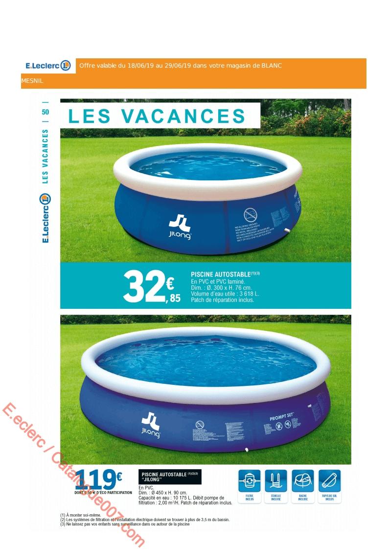 E.leclerc Catalogue Promos Du 18 Au 29 Juin 2019 ... tout Piscine Gonflable Leclerc