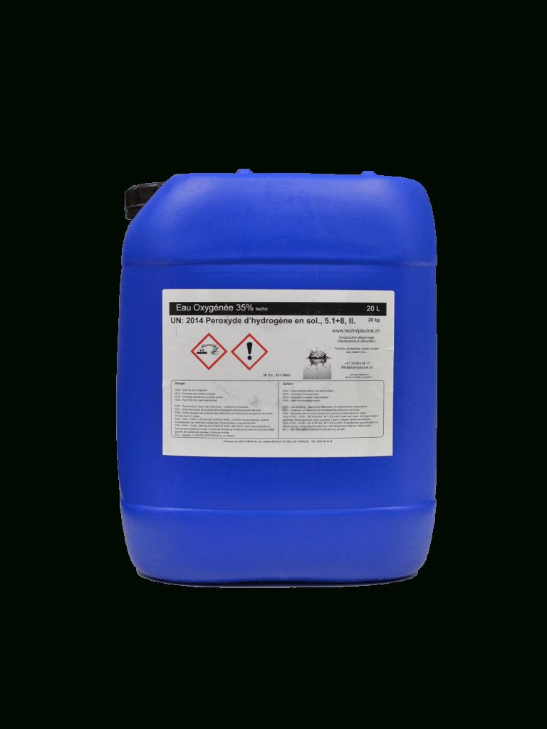 Eau Oxygénée 35% - 20 Litres tout Peroxyde D Hydrogène Piscine