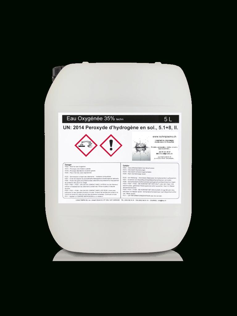Eau Oxygénée 35% - 5 Litres tout Peroxyde D Hydrogène Piscine