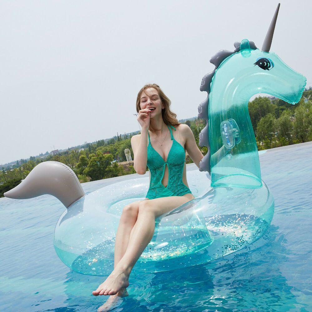 Ebay #sponsored 240Cm Licorne Gonflable Bouée Animal ... avec Animaux Gonflable Pour Piscine