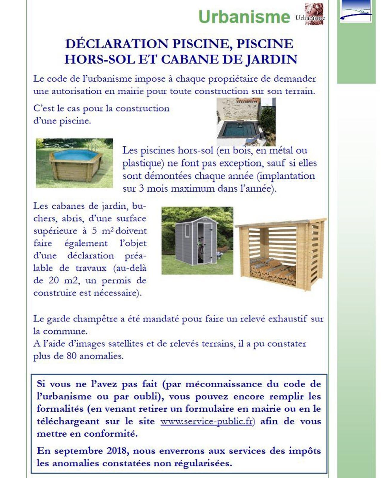 Edition Besançon | Piscine Et Cabane De Jardin Repérées ... destiné Piscine Impots