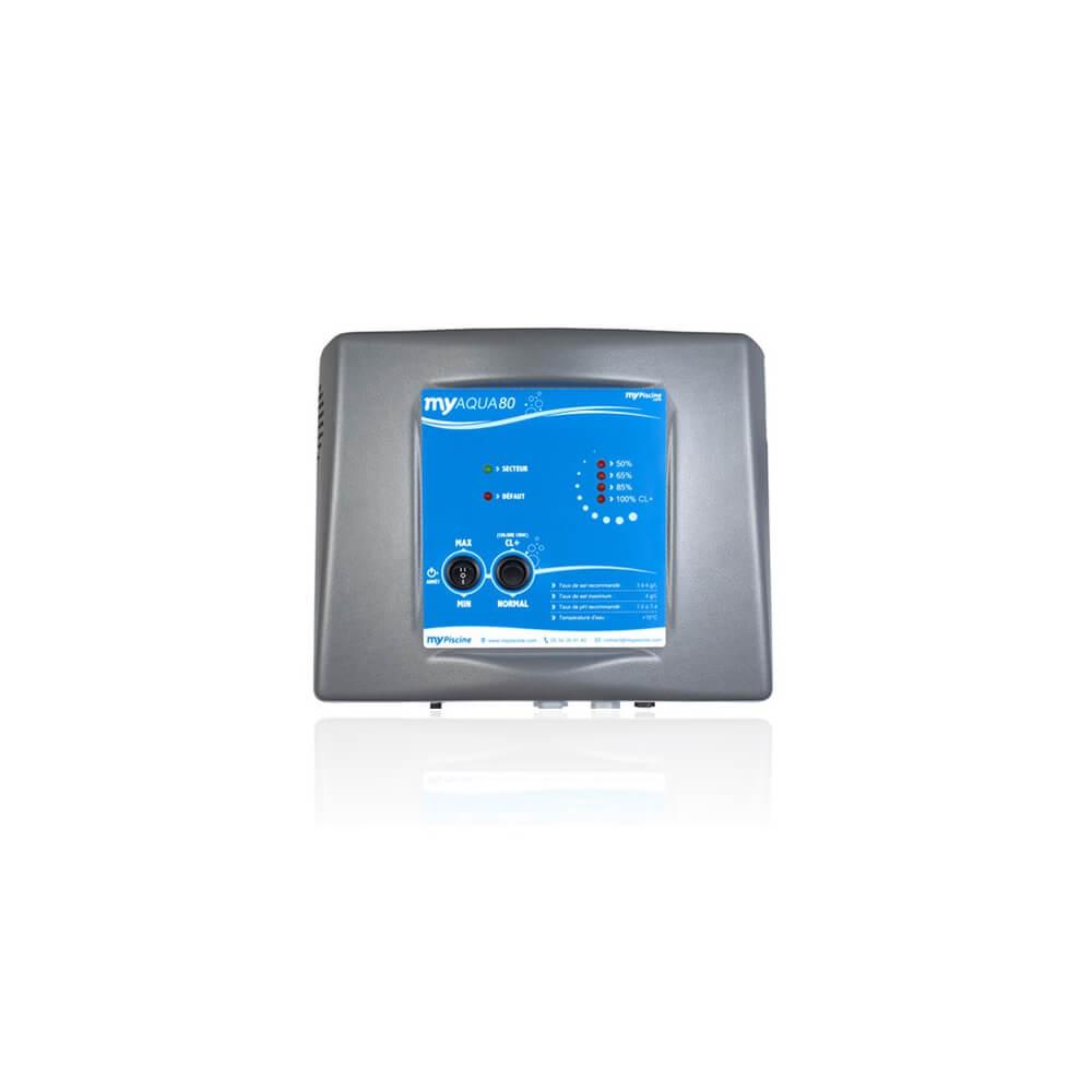 Électrolyseur Au Sel Myaqua80 Pour Piscine Jusqu'à 80 M3 à Sel De Piscine
