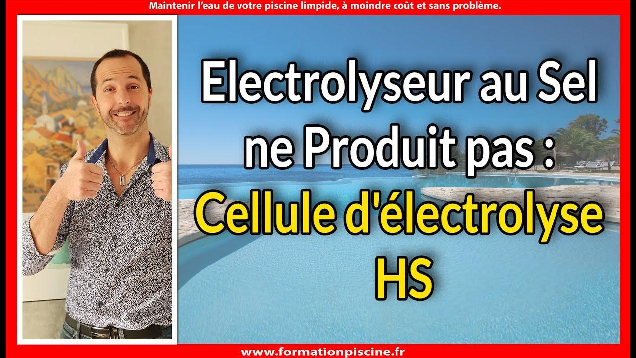 Electrolyseur Au Sel Ne Produit Pas : La Cellule D ... tout Probleme Electrolyseur Piscine