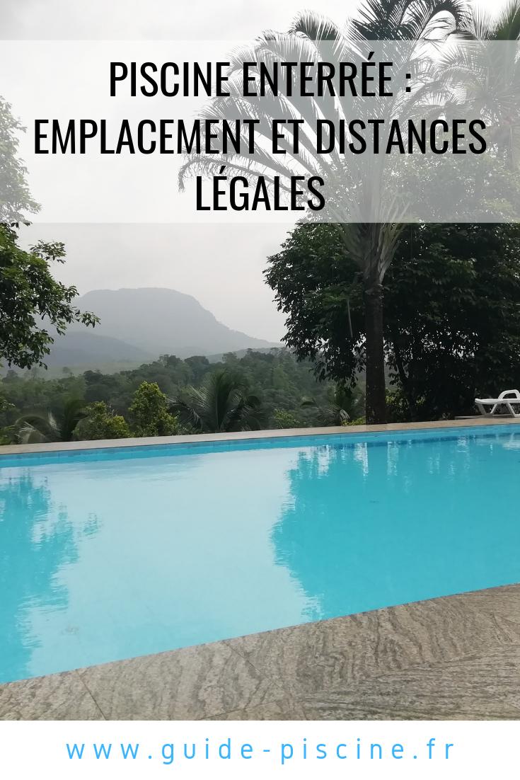 Emplacement Et Distances Légales Pour Une Piscine Enterrée ... avec Reglementation Piscine
