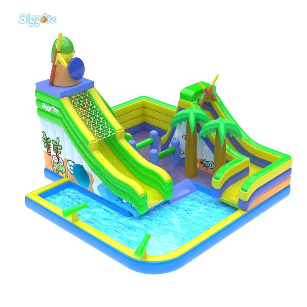 En Plein Air Commercial Mini Parc Aquatique Gonflable ... serapportantà Aire De Jeux Gonflable Avec Piscine